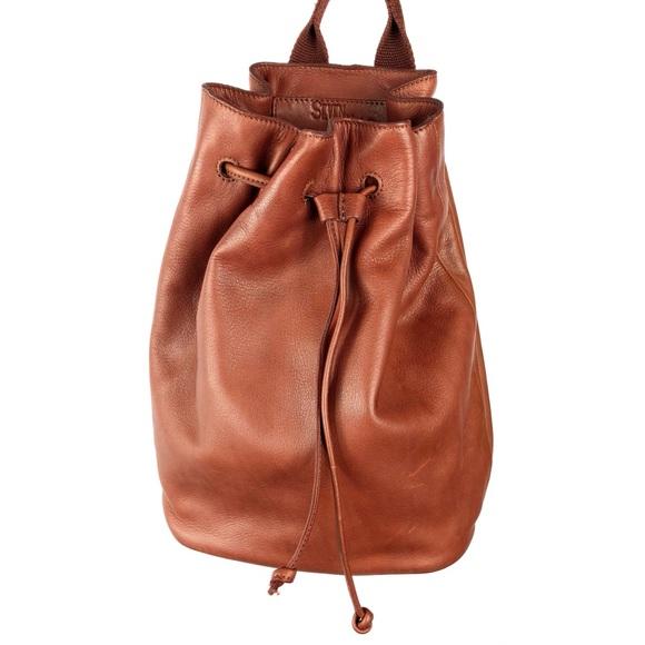 Seven Hills Leather Bucket Backpack Convertible. M 5bfc91456a0bb7e6578597ae dc6de39d7fb49